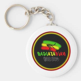 Rastarfarian Rights Logo Keychain