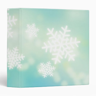Raster illustration of glowing snowflakes binder