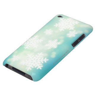 Raster illustration of glowing snowflakes iPod touch case