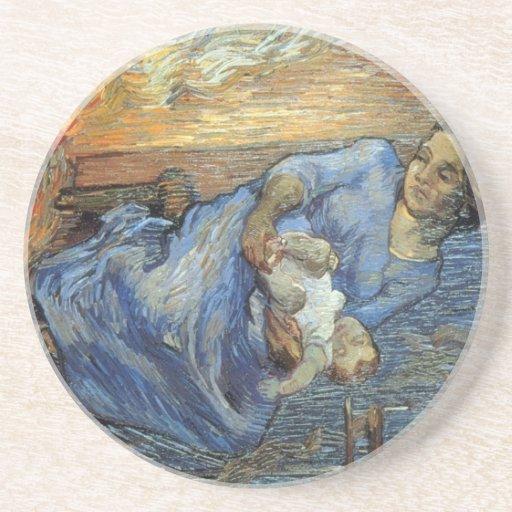 Rastrillo de Vincent van Gogh Posavasos Para Bebidas