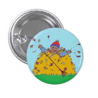 Rastrillo del botón del logro de las hojas pin
