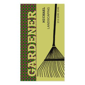 Rastrillo que cultiva un huerto extremo plantillas de tarjetas de visita
