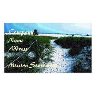 Rastro a las tarjetas de visita del mar