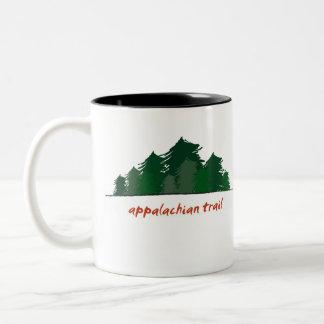 Rastro apalache (bosque) taza de dos tonos
