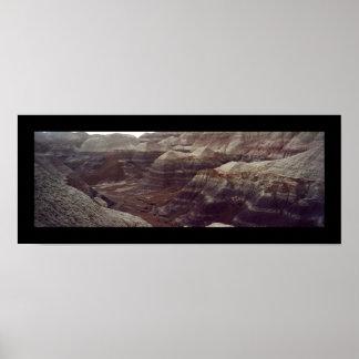 Rastro azul del Mesa, bosque aterrorizado Póster