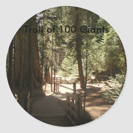 Rastro de 100 Giants (1) Pegatina Redonda