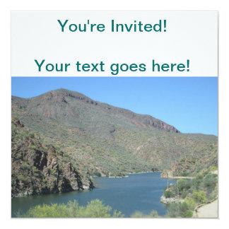 """Rastro de Apache de la opinión del río Salt Invitación 5.25"""" X 5.25"""""""