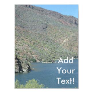 Rastro de Apache de la opinión del río Salt Invitaciones Magnéticas