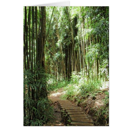 Rastro de bambú tarjeta de felicitación