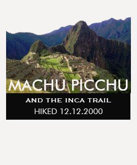 Rastro de encargo del inca de Machu Picchu Camiseta