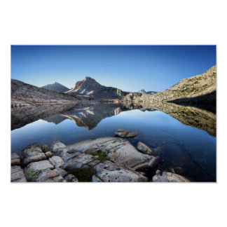 Rastro de John Muir del lago evolution Póster