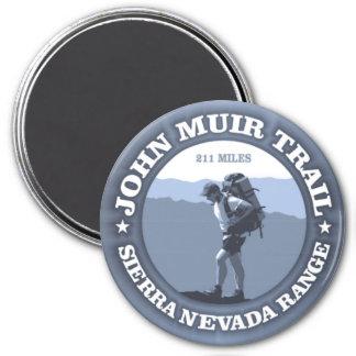 Rastro de John Muir Imán Redondo 7 Cm