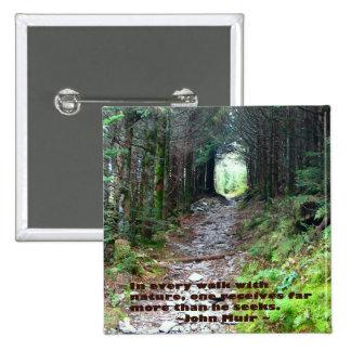 Rastro de la cueva del alumbre: Cada paseo Chapa Cuadrada 5 Cm