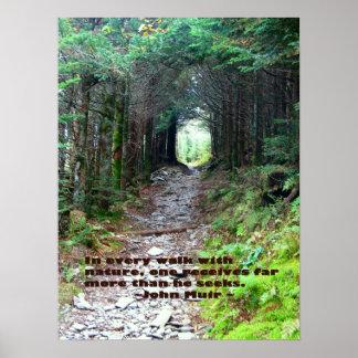 Rastro de la cueva del alumbre: Cada paseo w/natur Posters