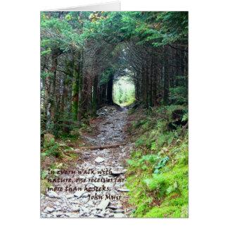 Rastro de la cueva del alumbre: Cada paseo w/natur Tarjeta De Felicitación