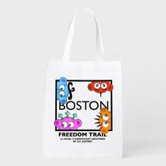 Rastro de la libertad de Boston con el equipo del Bolsas De La Compra