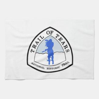 Rastro de la muestra histórica nacional del rastro toalla de cocina