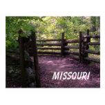 Rastro de Missouri Tarjeta Postal