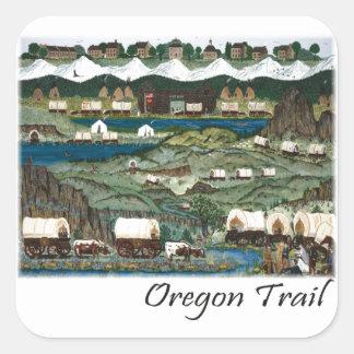 Rastro de Oregon Pegatina Cuadrada