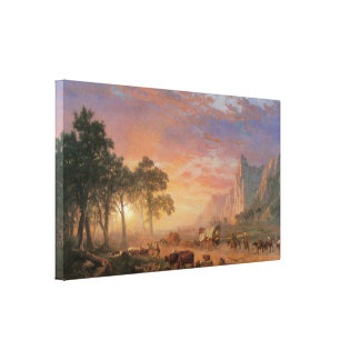Rastro de Oregon por Bierstadt, paisaje del Impresión En Lienzo Estirada