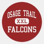 Rastro de Osage - Falcons - centro - independencia Pegatinas Redondas