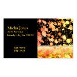 Rastro del amarillo y del oro de las hojas tarjetas de visita