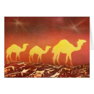 Rastro del camello tarjeta de felicitación
