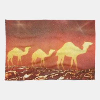 Rastro del camello toallas de mano