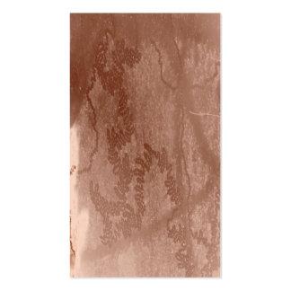 Rastro del caracol en textura marrón de la corteza plantilla de tarjeta de visita