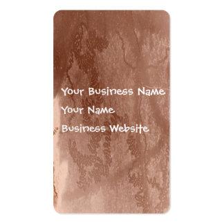 Rastro del caracol en textura marrón de la corteza tarjetas personales