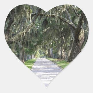 Rastro del Cumberland Calcomanía Corazón