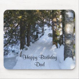 Rastro del Cumpleaños-snowmobile del papá Alfombrillas De Ratón