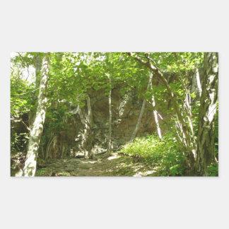Rastro del descubrimiento de Frazier en Shenandoah Pegatina Rectangular