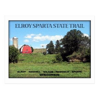 Rastro del estado de Elroy Sparta Tarjeta Postal