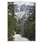 Rastro del invierno del Mt Washington Felicitación