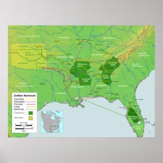 Rastro del mapa de la relocalización del nativo am impresiones