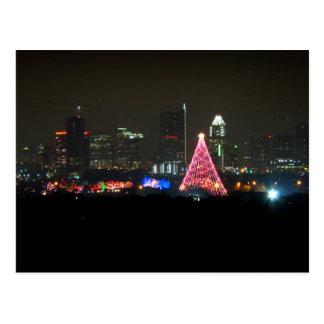 Rastro del navidad de Austin Tejas del horizonte d Tarjeta Postal