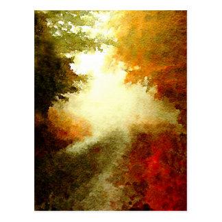 Rastro del otoño tarjetas postales