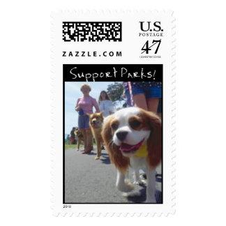 Rastro del perro sello postal