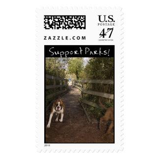 Rastro del perro timbre postal