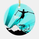 rastro del polvo del esquí ornamento de reyes magos