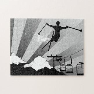 rastro del polvo del esquí puzzles