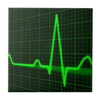 Rastro del pulso del golpe de corazón teja  ceramica