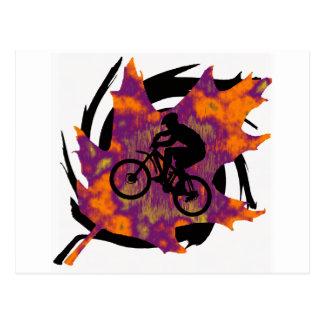 Rastro del roble de la bici tarjetas postales
