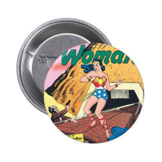 Rastro invisible de la Mujer Maravilla Pin Redondo De 2 Pulgadas