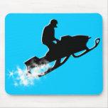 rastro snowmobiling del polvo alfombrillas de ratón