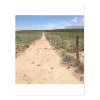 Rastro solo en Tejas del este con el pico de Guada Tarjetas Postales