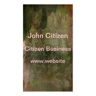 Rastro verde abstracto del caracol en textura de plantilla de tarjeta de visita