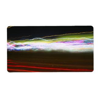 Rastros abstractos de la luz etiquetas de envío