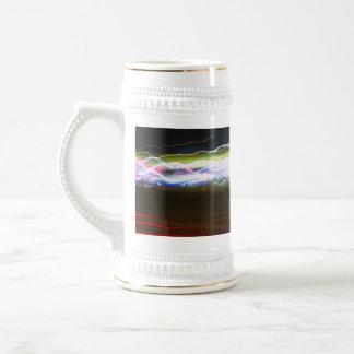 Rastros abstractos de la luz taza de café
